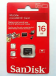 כרטיס זיכרון מיקרו 16GB SANDISK