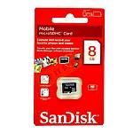 כרטיס זיכרון מיקרו 8GB SANDISK