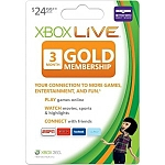 XBOX360 GOLD LIVE CARD 3 Month