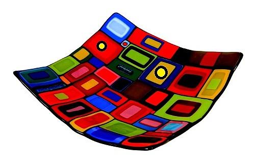 צלחת פיוזינג צבעונית - 1