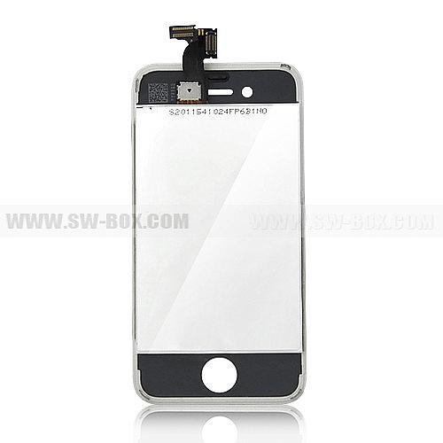תיקון אייפון מסך אייפון 4 לבן - הכולל LCD + דיגיטייזר - 3