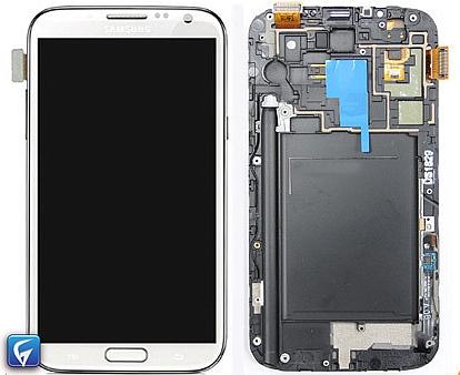 החלפת מסך LCD+מגע מקורי Samsung Galaxy Note 2 סמסונג - 1
