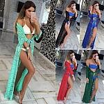 שמלת חוף תחרה ארוך