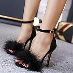 נעל עקב פרווה