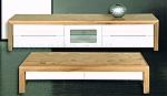 מזנון + שולחן דגם N 36 מעץ אלון מבוקע  ובשילוב אפוקסי
