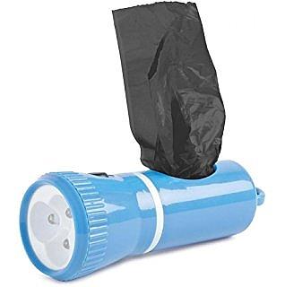 פנס לד שהוא מתקן לשקיות איסוף צואה + 3 גלילי שקיות AKC Led Dispenser - 2