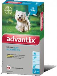 """אדוונטיקס אמפולות קוטלות ודוחות טפילים Advantix לכלבים 4-10 ק""""ג"""
