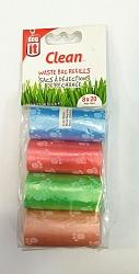 שקיות איסוף צרכים צבעוניות 8 גלילים דוג איט