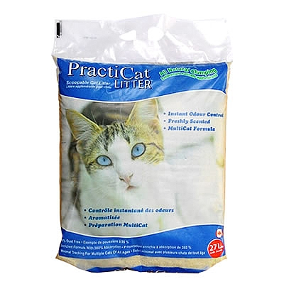 """חול פרקטיקט מתגבש 14 ק""""ג PractiCat - 1"""