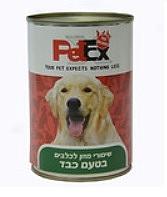 פטקס שימורים לכלבים בטעם כבד