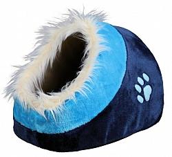 מיטה איגלו לכלבים קטנים וחתולים פרווה טריקסי כחול Trixie Minou