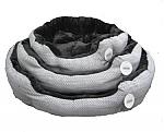 מיטה פוך פרוותי שחור אפור