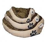 מיטה פרוותית לכלבים וחתולים דוגמא כף רגל