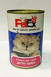 פטקס שימורים לחתול בטעם סלמון 400 גרם