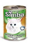 סימבה שימורים לחתולים עם נתחי בשר צייד