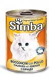 סימבה שימורים לחתולים עם נתחי בשר עוף