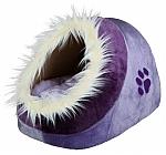 מיטה איגלו לכלבים קטנים וחתולים פרווה טריקסי סגול Trixie Minou