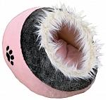מיטה איגלו לכלבים קטנים וחתולים פרווה טריקסי ורוד Trixie Minou