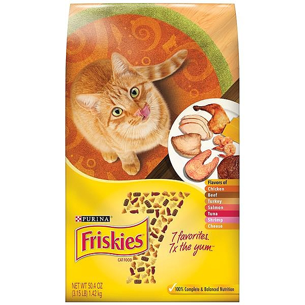 """פריסקיז מזון לחתול שבע טעמים (צהוב) 7.26 ק""""ג Friskies7 - 1"""
