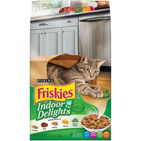 """פריסקיז מזון לחתול מעדני הבית (ירוק) 7.26 ק""""ג Friskies Indoor Delight - 1"""