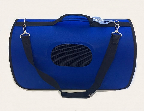 תיק נשיאה לכלבים וחתולים גדול - כחול - 1