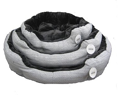 מיטה פוך פרוותי שחור אפור - 1