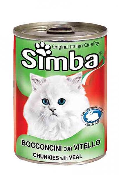 סימבה שימורים לחתולים עם נתחי בשר בקר - 1