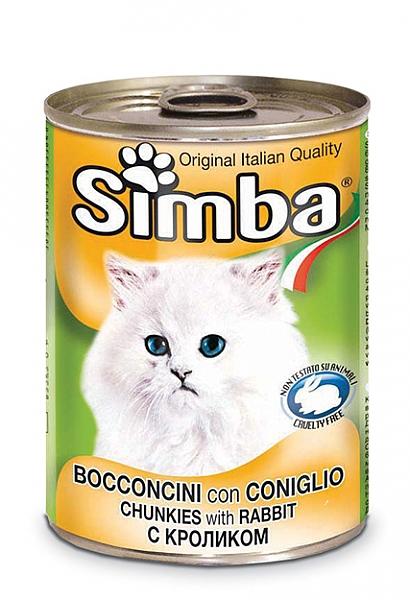סימבה שימורים לחתולים עם נתחי בשר ארנבת - 1