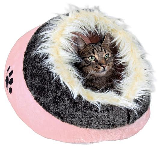 מיטה איגלו לכלבים קטנים וחתולים פרווה טריקסי ורוד Trixie Minou - 2