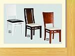 כיסא לפינת אוכל מעץ מלא דגמים k1'k2'k3