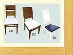 כיסא לפינת אוכל מעץ מלא דגמים k10'k11'k12