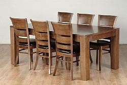שולחן פינת אוכל + 6 כיסאות דגם גילון