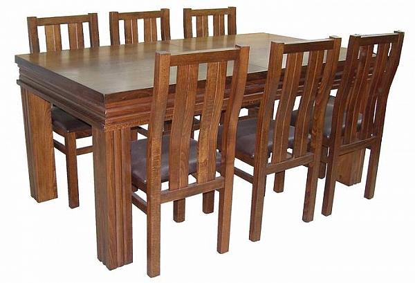 שולחן פינת אוכל + 6 כיסאות דגם ארגמן - 1
