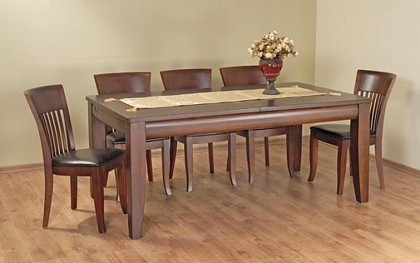 שולחן פינת אוכל + 6 כיסאות דגם שרף - 1