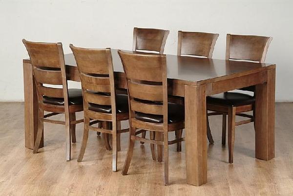 שולחן פינת אוכל + 6 כיסאות דגם גילון - 1
