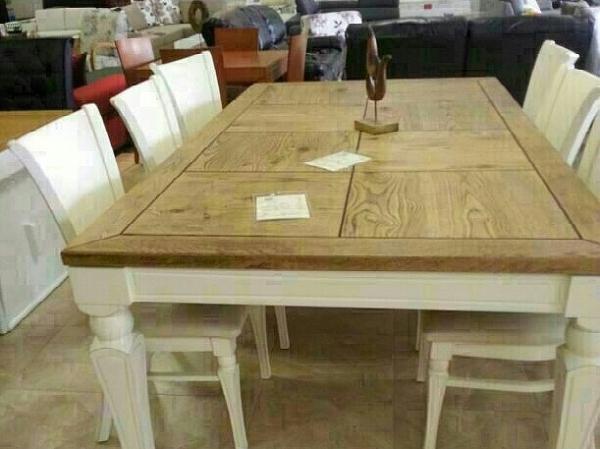 שולחן פינת אוכל + 6 כיסאות דגם סיוון - 1