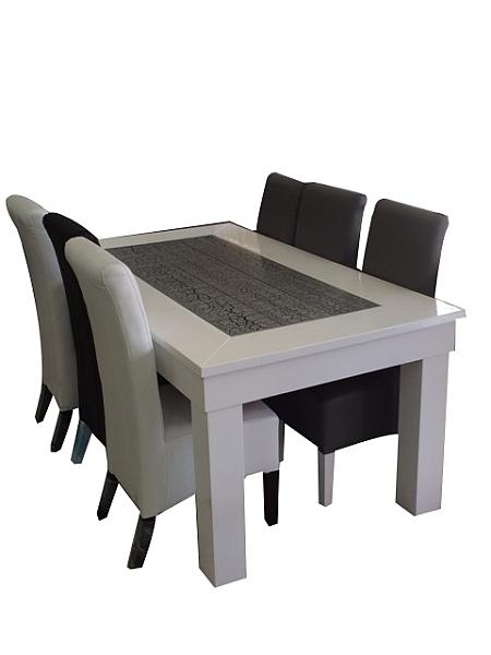שולחן פינת אוכל + 6 כיסאות מאפוקסי דגם ברבי - 1