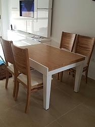 פינת אוכל דגם עופר+ 4 כסאות