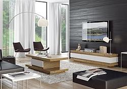 מזנון + שולחן דגם N 424 מעץ אלון מבוקע בשילוב אפוקסי
