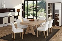 פינת אוכל דגם בומביי + 6 כסאות