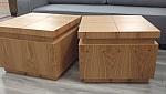 2 קוביות שולחן סלון מאלון מבוקע דגם c 55