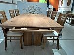 שולחן לפינת אוכל + 6 כסאות דגם הולנד מעץ אלון מבוקע