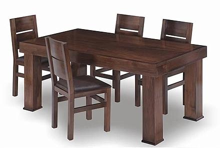 שולחן פינת אוכל + 6 כיסאות דגם ברדלס - 1