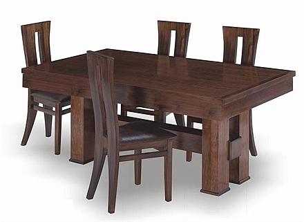 שולחן פינת אוכל + 6 כיסאות דגם דפנה - 1