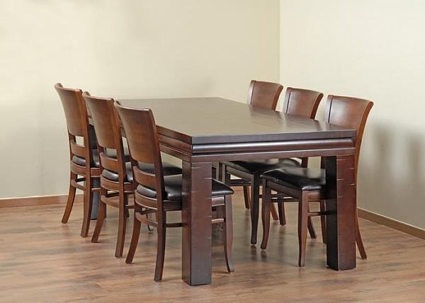 שולחן פינת אוכל + 6 כיסאות דגם שורש - 1