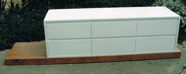 מזנון + שולחן דגם N 128 מעץ אלון מבוקע - 1