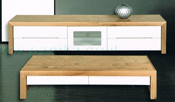 מזנון + שולחן דגם N 36 מעץ אלון מבוקע  ובשילוב אפוקסי - 1