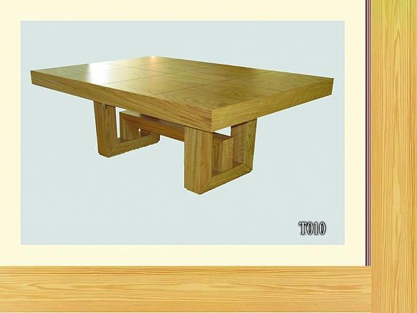 שולחן פינת אוכל + 6 כיסאות דגם T010 מעץ אלון - 1