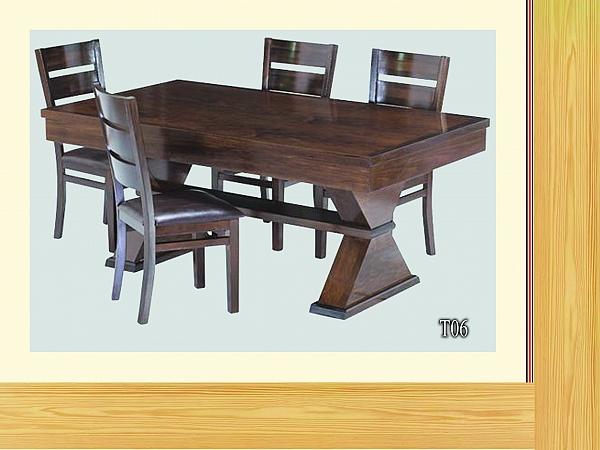 שולחן פינת אוכל + 6 כיסאות דגם T06 - 1