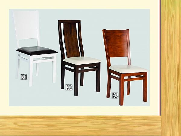 כיסא לפינת אוכל מעץ מלא דגמים k1
